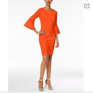 Calvin Klein | Bell Sleeve Sheath Dress in Ember 4